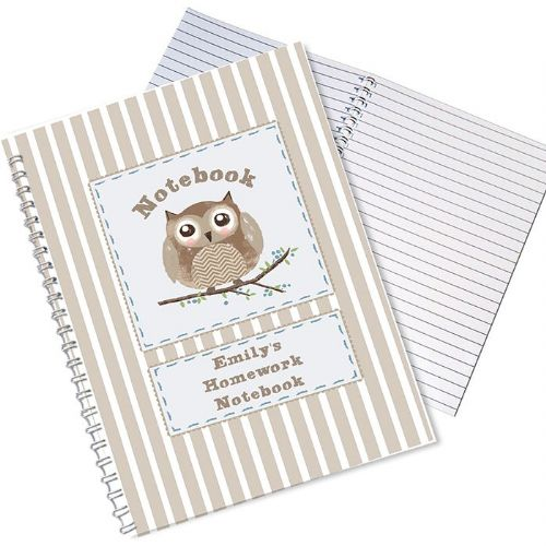 Personalised Woodland Owl Notebook